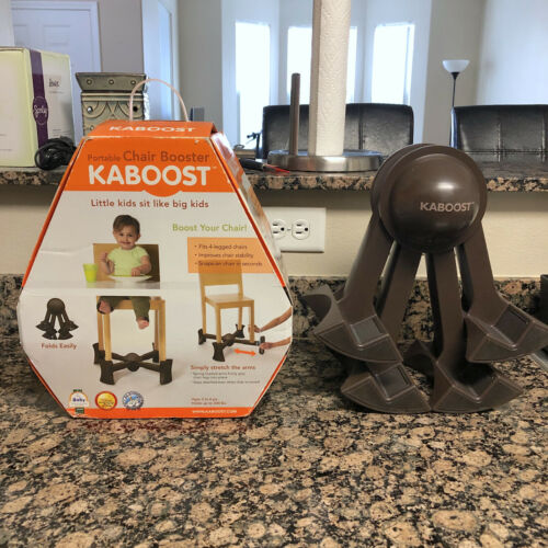 Kaboost Portable Chair Booster Seat Child Traveling Folding Chocolate Brown