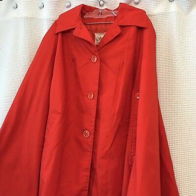 Vintage SHARPEE Women's Red Cape Little Red Riding Hood Halloween Costume One Sz](Halloween Red Hooded Capes)