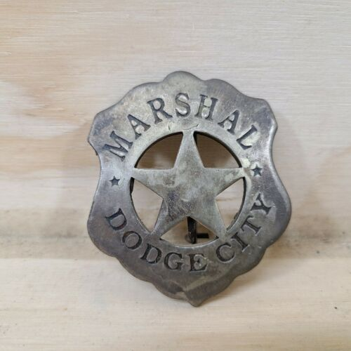 """""""Marshal Dodge City"""" badge vintage collectible old West Southwestern cowboy pin"""