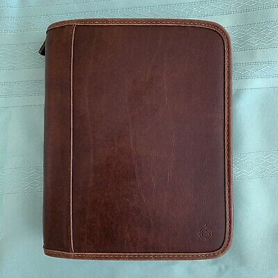 Franklincovey Binder Planner Organizer Brown Leather - Excellent Condition