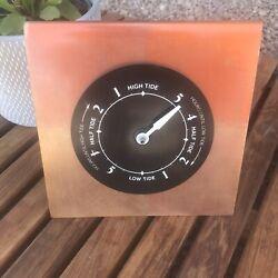 TIDE CLOCK  / INDICATOR Copper 6x6inches Modern