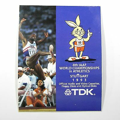 2 HASE/RABBIT/HASEN Aufkleber Sticker TDK IAAF WM 1993