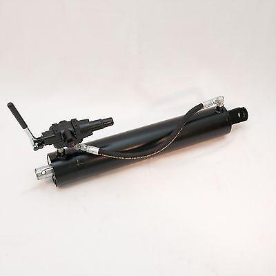 4.5 Bore X 24 Stroke Hydraulic Log Splitter Cylinder Wdetent Valve Hose Kit