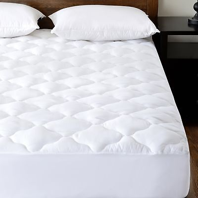 (Quilted Waterproof Mattress Pad Protector Cover (Queen) with Soft Down)