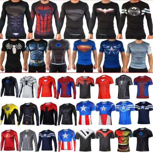 SUPEREROE MARVEL 3D CONTENITIVE Top sportivo T-shirt uomo maglia ciclismo
