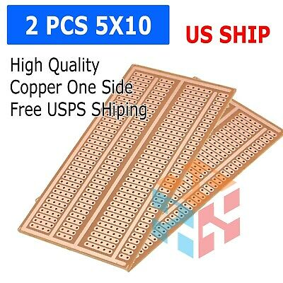 2pc Stripboard Prototype Proto Board Pcb 5er Breadboard Layout Fr-2 5x10cm