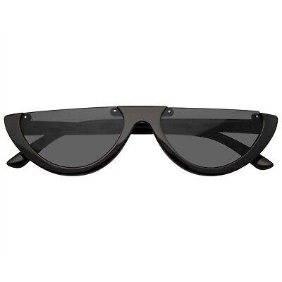 Damen Vintage Halber Rahmen Katzenaugen Sonnenbrille Damen Mode Brillen Retro