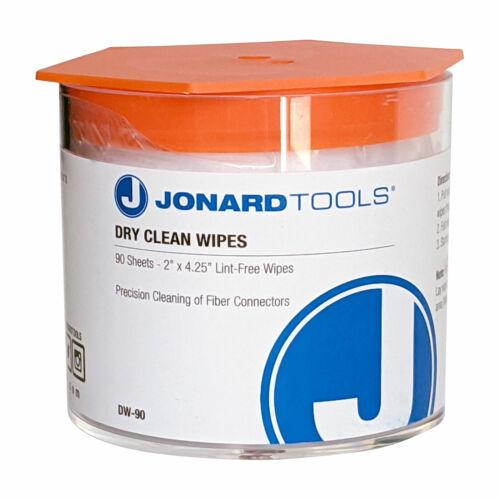 Dry Clean Wipes for Fiber Optic, Jonard Tools DW-90