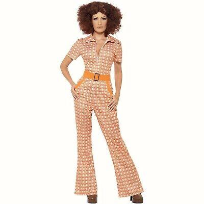Ladies 60's 70's Jumpsuit Hippie fancy dress costume Womens Authentic Chic 16 - Hippie Chic Kostüm