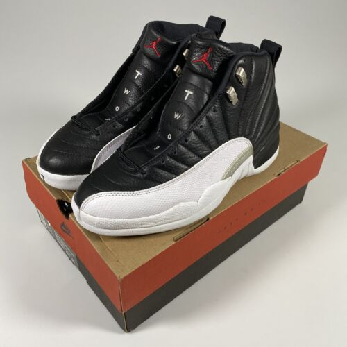 Vintage Original Nike Air Jordan 12 XII Black Red White Playoff Shoes Size 9.5