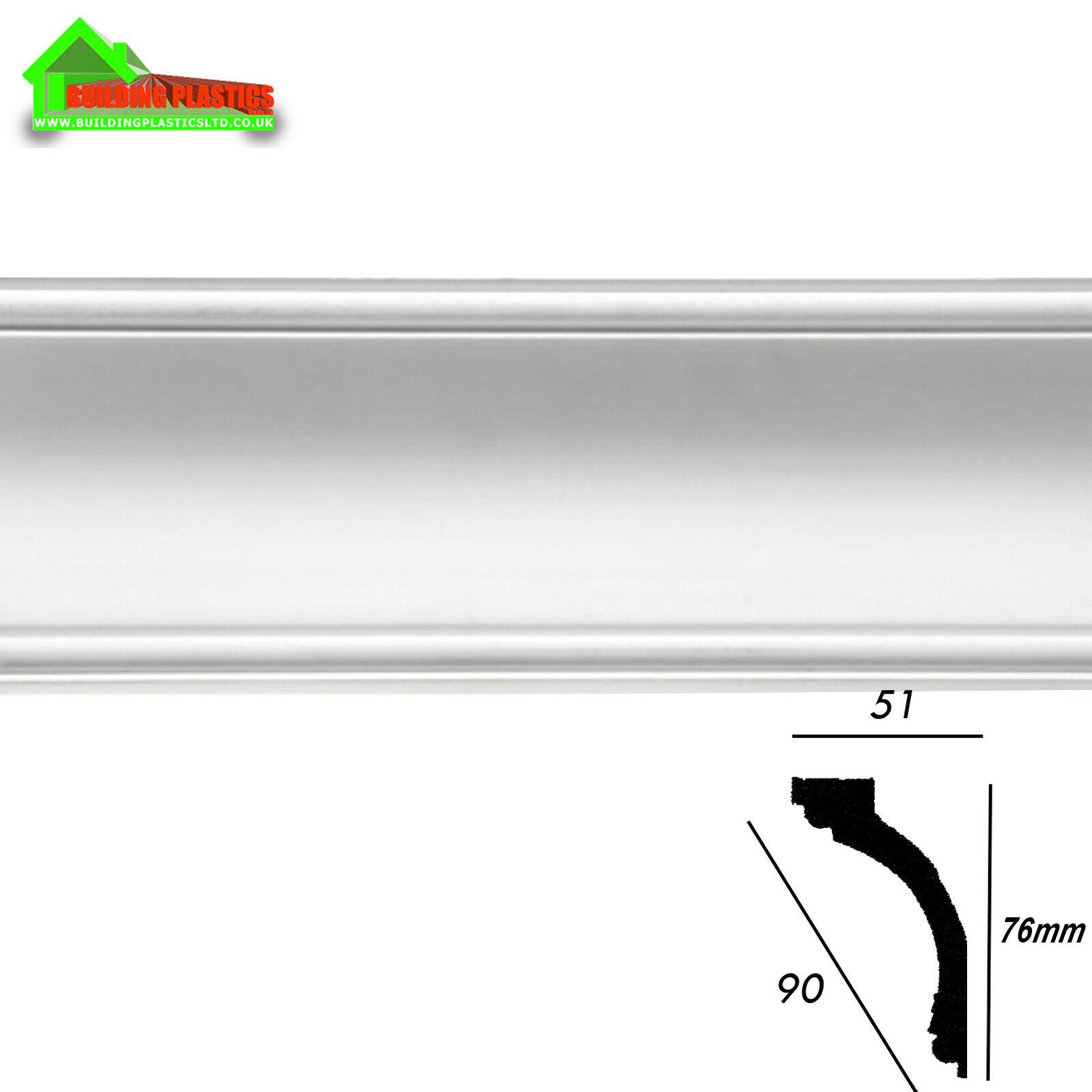 Plastic Ceiling Coving White 51mm X 76mm X 2 92m Emafyl