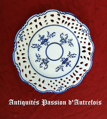 B20120617 - Superbe petite assiette ajourée en porcelaine