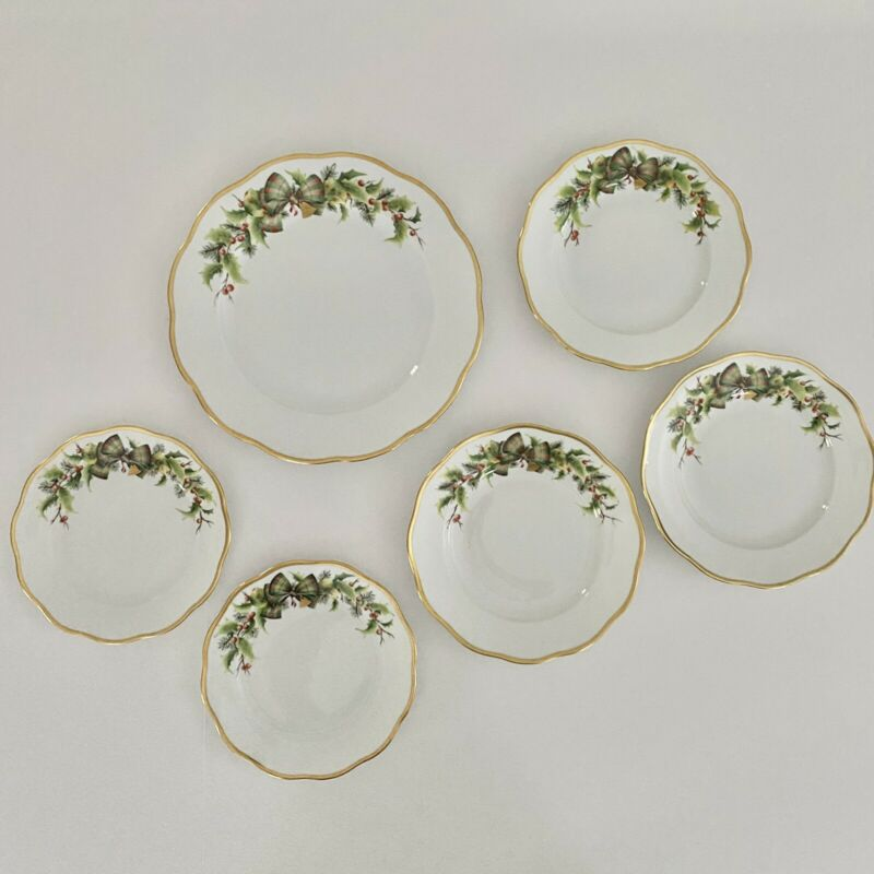 Herend Noel - 6 Pieces - Unused