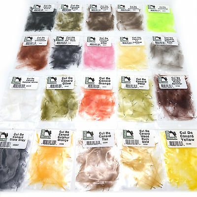 Cdc Feathers   Hareline Fly Tying Cul De Canard Feathers In 20  Colors New