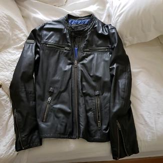 Superdry Leather Jacket Large