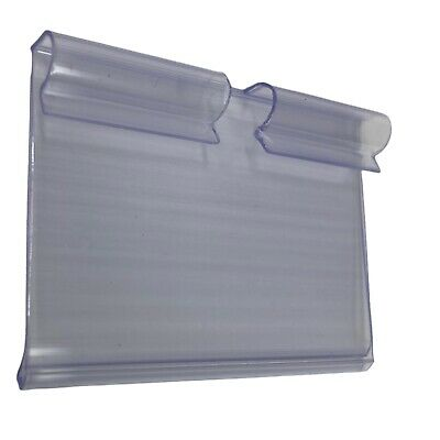 100pcs Clear Plastic Label Holders Wire Shelf Retail Price Merchandise 1.7x2.36