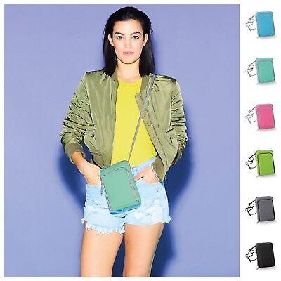 Mobile Smart Phone Kindle Case Money Bag Shoulder Strap Card Holder Pouch Wallet (Kindle Phone)