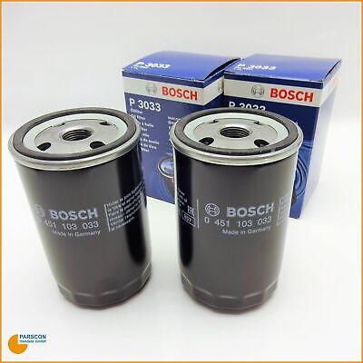 2x Ölfilter Anschaubfilter Bosch 0451103033 für Audi 50 80 90 100 200 A6 14.2 Mp, 2.7
