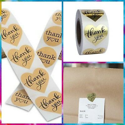 Stickers Labels 100 Round Or Heart Shaped. Thank You-b Remembered Get Noticed