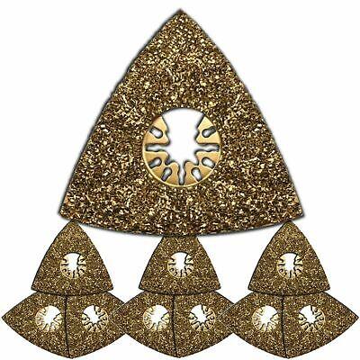 10 X Oscillating Tool Triangular Carbide Rasps - Fein Multimaster Compatible