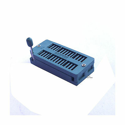 2pcs New 28 Pin Universal Zif Dip Tester Ic Test Socket
