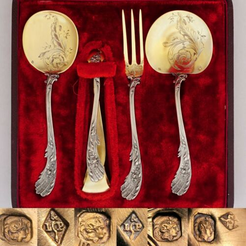 Antique French Sterling Silver Dessert Hors d