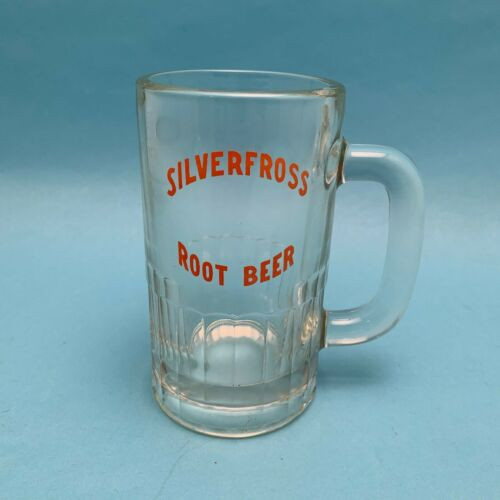 "Silverfross Drive-in Root Beer Mug Joliet Ottawa Illinois 6"" Tall"