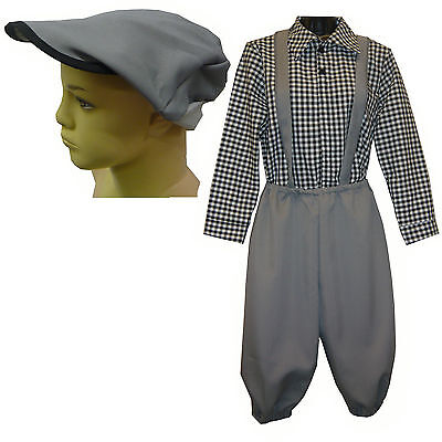 Child Newsboy Victorian 3 Piece Costume Newsies Boys Victorian Costume 1238](Victorian Kids Costume)