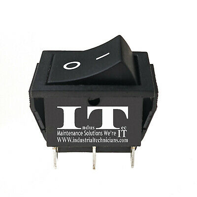 Industec Momentary 2 Position Dpdt - Rocker Switch 6 Pin .250 1.4 Pc Quick Spade