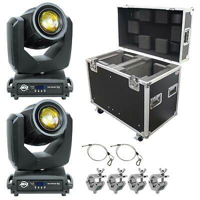 American DJ Vizi Beam 5RX Moving Head Yoke Light w ATA Road/Flight Case + Clamps