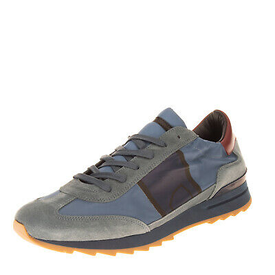 RRP €220 PHILIPPE MODEL Sneakers EU45 UK10.5 US11.5 Contrast Leather Logo Patch