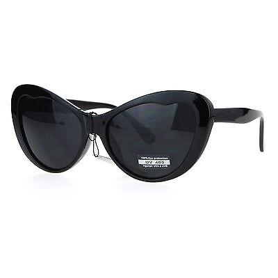 Celebrity Fashion Dark Lens Sunglasses Womens Cateye Butterfly Frame UV 400 New Ladies Celebrity Fashion