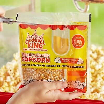 36-pack All-in-one Large Butterfly Butter Popcorn Kit For 6 Oz. Poppers