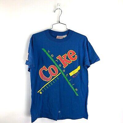 Vintage Coke T Shirt Size Small Mens Active Versatile 80s Coca Cola Soda America