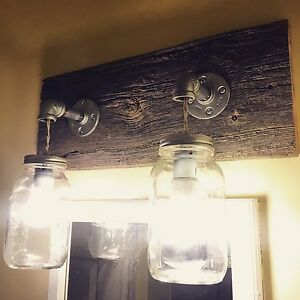 Rustic Mason jar light fixture  London Ontario image 1