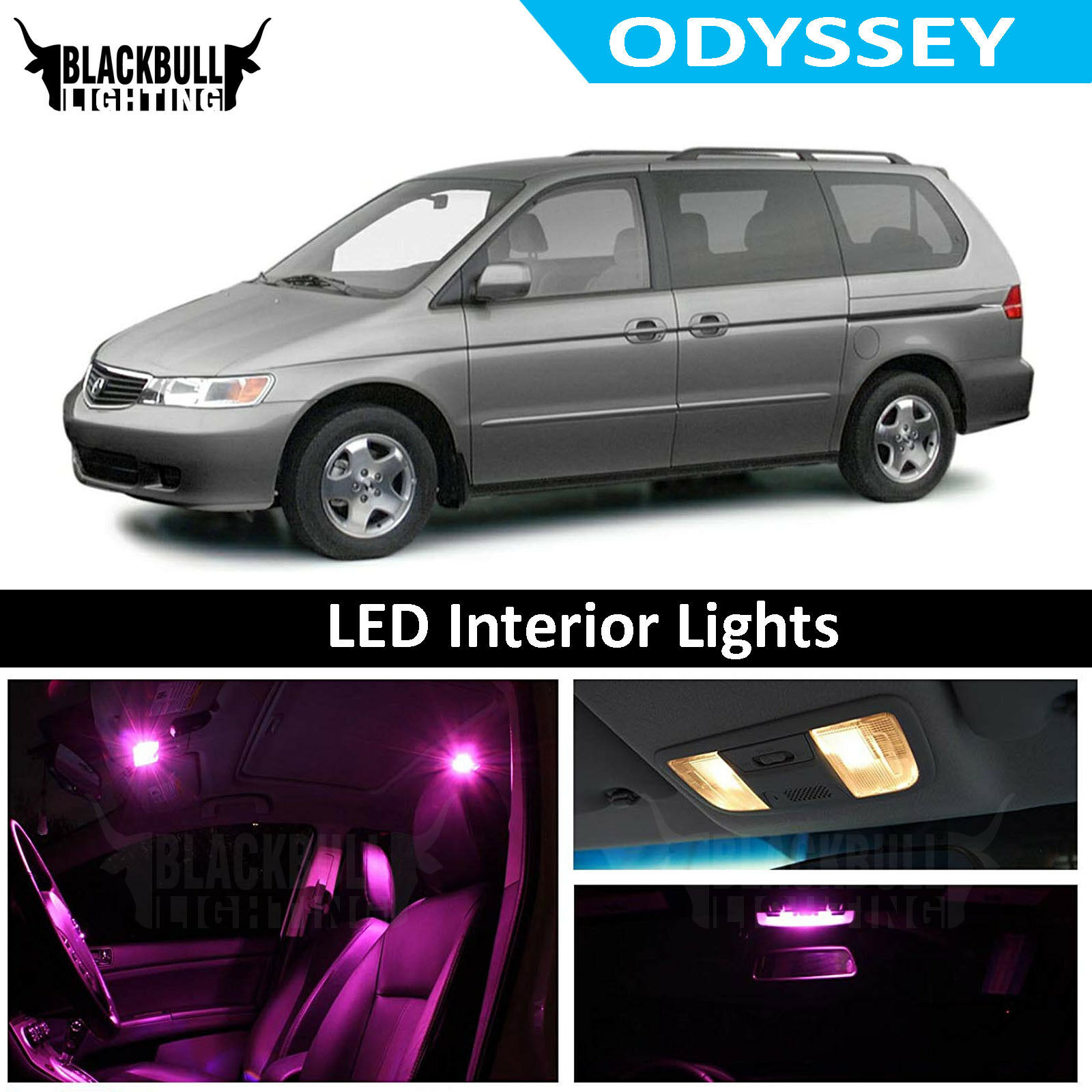 Details About Pink Led Interior Lights Replacement Kit For 1994 2004 Honda Odyssey 13 Bulbs