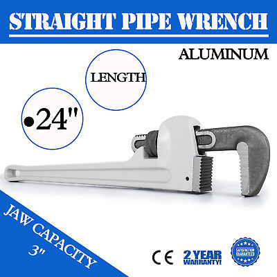 """48/"""" Straight Pipe Wrench Aluminum Pipe Monkey Plumbing Wrench 4.3/"""" Jaw"""