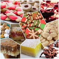 Christmas squares and cookie trays