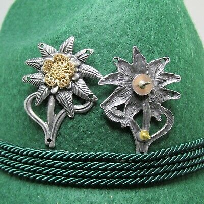 Edelweiss Mountain Troop German Oktoberfest Hat Pin - Modified Back