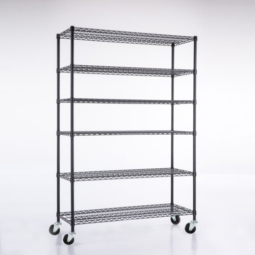 "82""x48""x18"" Heavy Duty Chrome 6 Tier Steel Wire Shelving Rack Shelf Adjustable"