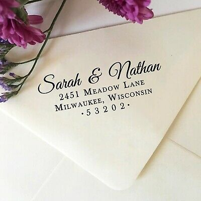 Return Address Stamp Self Inking Address Stamp Elegant Classic Wedding Stamp