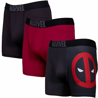 Deadpool Performance Mesh Boxer Briefs 3-Pair Pack Red