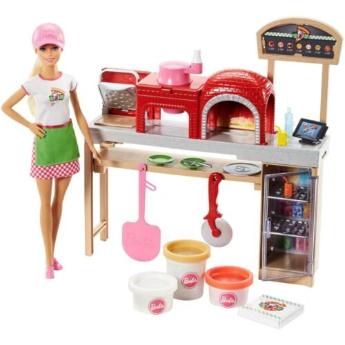 Barbie Cooking & Baking Pizza Making Chef Doll & Play Set FHR09 NEW