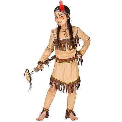 Mädchenkostüm Indianerin Indianer Wilder Westen Fasching Western Squaw Cowboy ()