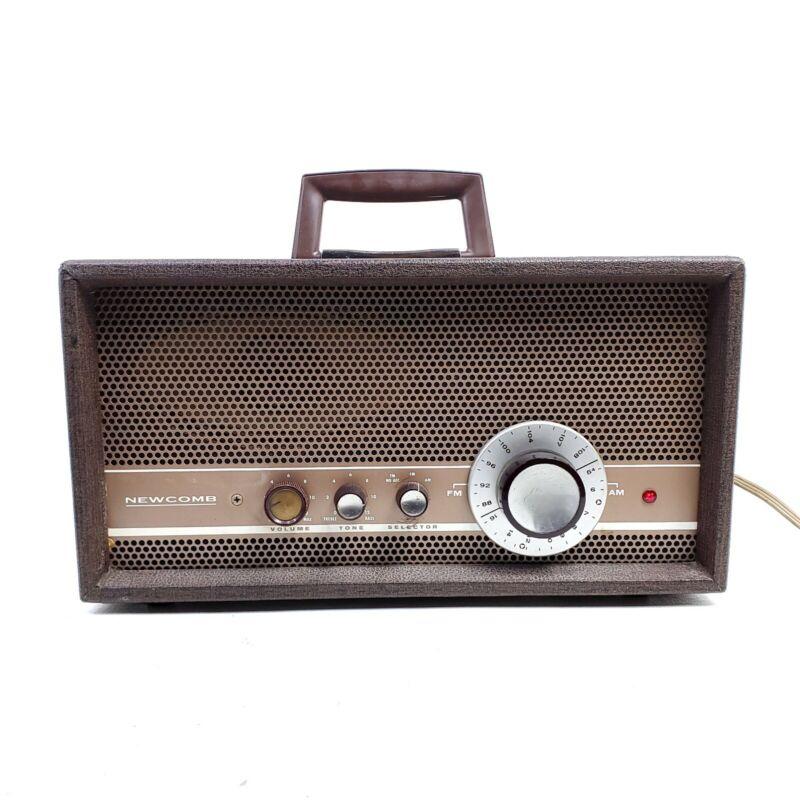 Vintage Newcomb AM/FM Tube Radio AV-750 School Industrial Portable 1960 Works