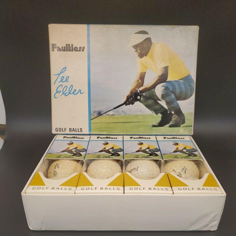 Lee Elder Faultless Full Dozen Golf Balls NEW! RARE!