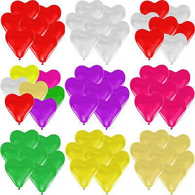 30 cm Farbe & Stückzahl frei wählbar Herzballons Luftballon (Herz-ballons)
