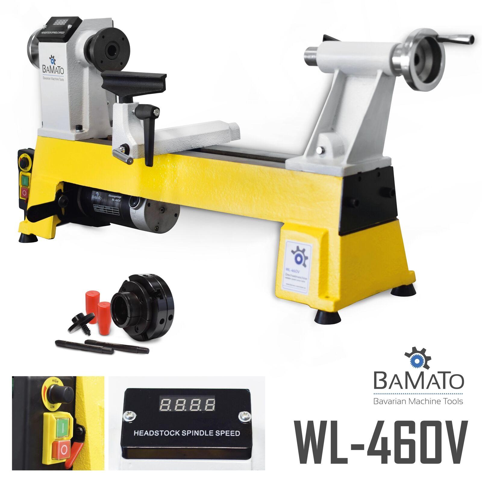 BAMATO Drechselmaschine WL-460V + 4-Backenfutter selbstzentrierend Drechselbank