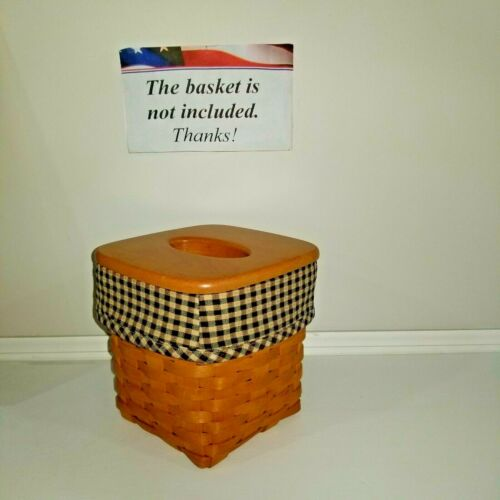 Tall Tissue Basket Liner from Longaberger Khaki Check fabric. Last ones