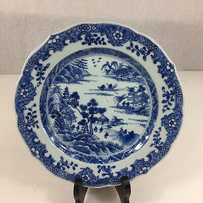 Vintage Chinese Export landscape scene porcelain Plate